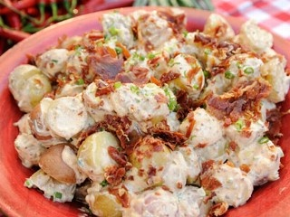 "Sunny Anderson whips up a delicious red potato salad for ""Good Morning America."""