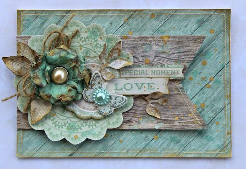 Rustic Harmony - Love Card by Cathy Cafun for Kaisercraft