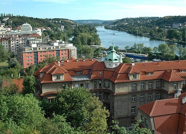 Schwarzenberg island in Prague, also known as Rowing island.