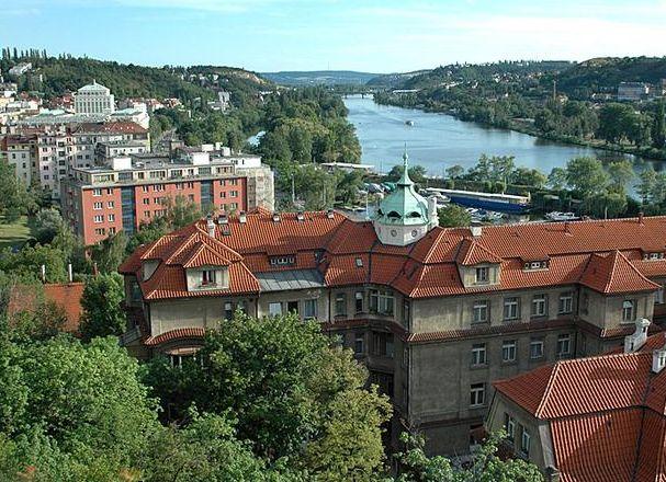 Schwarzenberg island in Prague, also known as Rowing island.