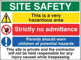 Site Safety Sign image