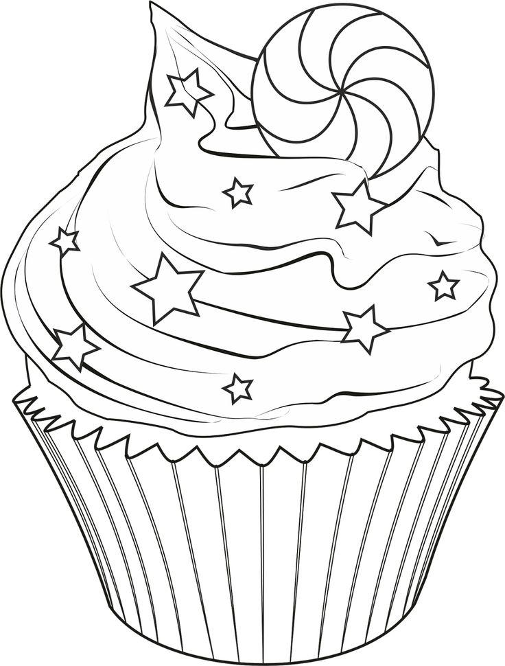 Les 27 meilleures images du tableau coloriage gourmand sur - Dessin cupcake ...