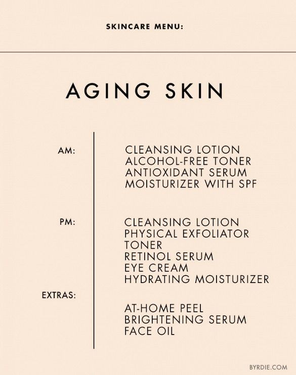 skincare menu for aging skin // need to follow this!