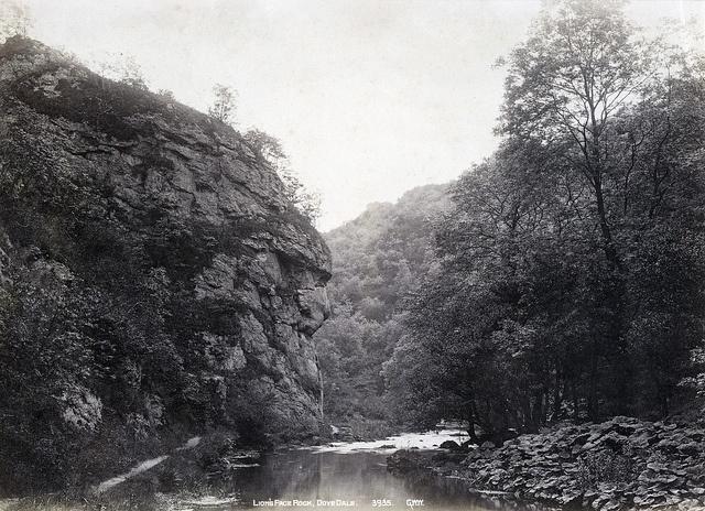 G.W. Wilson & Co - Lion's Face Rock, Dovedale, 1880