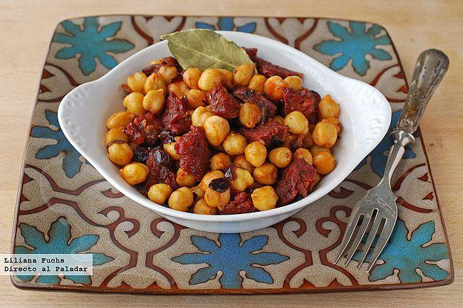 Garbanzos salteados con chorizo y pimentón de inspiración marroquí