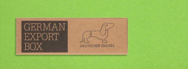 German Export Box - sausages dog ;) a typical german souvenir