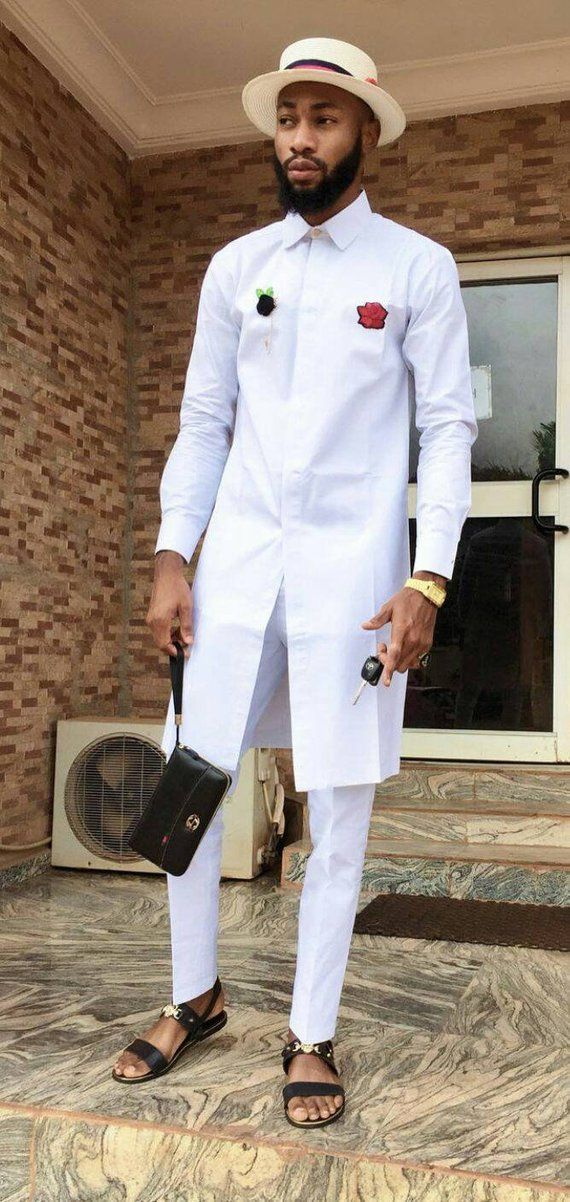 4a496f1b6b African mens clothing,African mens wear,African mens attire,white ...