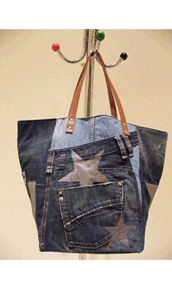 CABAS TOUT PATCH JEANS By Cathanne Bag