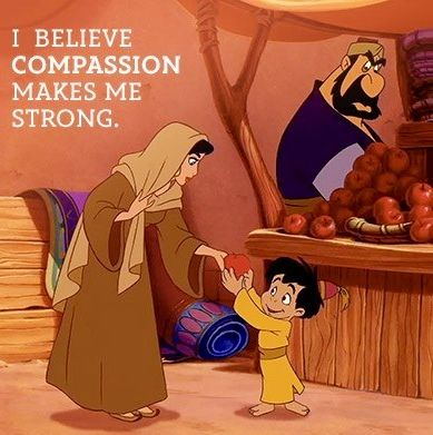 Compassion Princess Jasmine quote via www.Facebook.com/AladdinPrincessJasmine