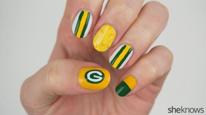 Green Bay Packers nail art