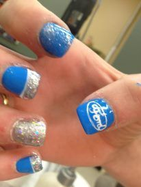 Ford nails! Yesssss!!! Want to do these! | Pretty & Polished | Pinterest | Ford, Nails and Chevy