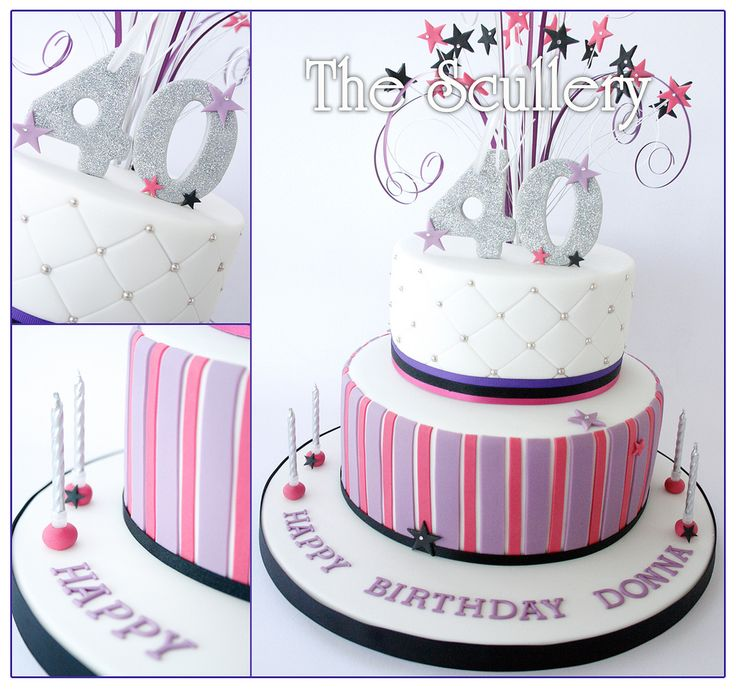Ladies 40th birthday cake 40 birthday cakes 40 birthday - Th birthday themes ideas ...