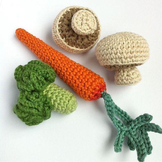 6 Crochet Fruit & Vegetables / Crochet Vegetables by LittleConkers, £21.00