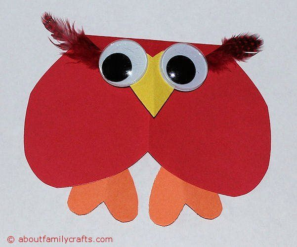 How to make paper heart animals