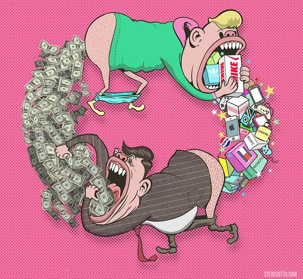 http://designtaxi.com/news/379018/A-Collection-Of-Grim-Illustrations-Show-The-Sad-Truth-About-The-World/
