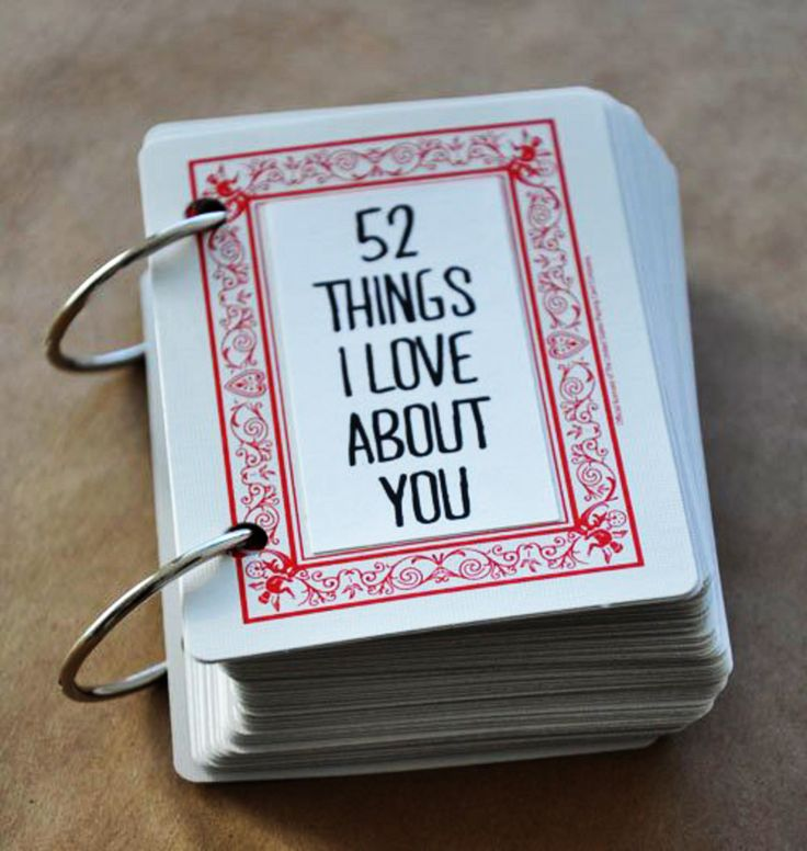 3. 52 #Things I Love about You Deck of #Cards - 7 DIY Valentine's Day Gifts for Your Man ...