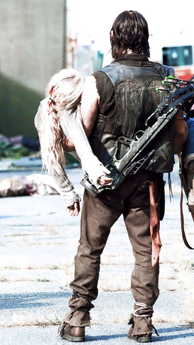 Norman Reedus & Emily Kinney - as Daryl Dixon and Beth Greene on #TheWalkingDead - from season 5, episode aired in fall of 2014