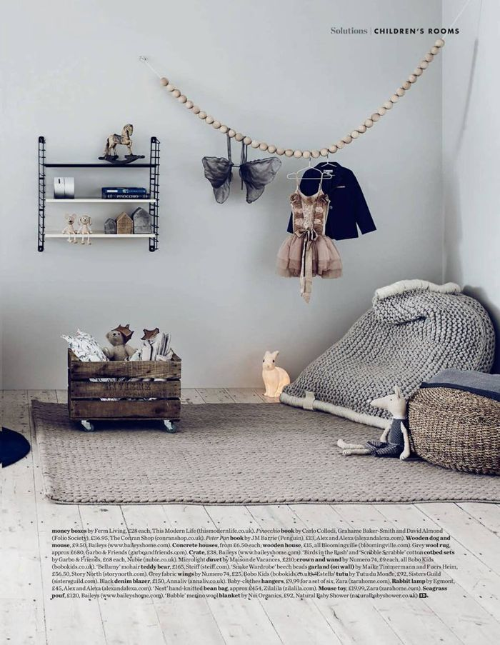 grey and gorgous childs room - styling Alex Kristal  photo Jake Curtis