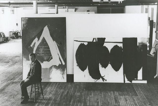 — Robert Motherwell, [1915-1991], in his studio.