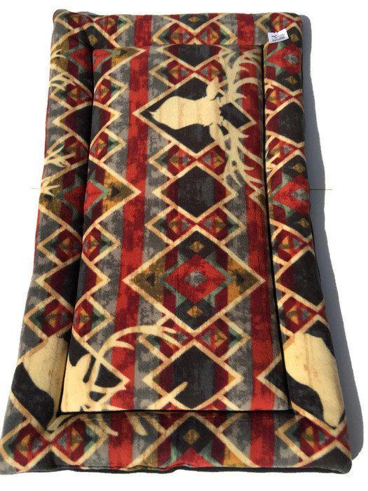 Southwestern Deer Dog Bed Big Dog Bed XL Crate Pad by ComfyPetPads