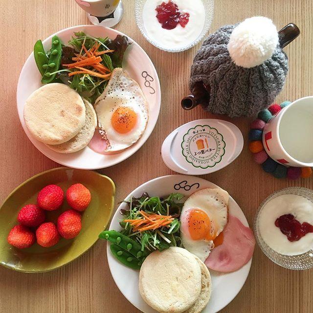 2017/02/06 07:28:47 ryoko__kod . 朝ごはん 2017.02.06.mon. おはようございます。 朝陽が眩しいいいお天気です☀︎ 新しい1週間また頑張ろう。 今週もよろしくお願いします♡ . ◽︎ #イングリッシュマフィン ◽︎ ハムエッグ ◽︎ サラダ ◽︎ いちご ◽︎ ヨーグルト . #朝ごはん#朝ごパン#朝ごぱん#朝食#breakfast#ふたりごはん#二人ごはん#おうちごはん#二人暮らし#ふたり暮らし#朝食プレート#ワンプレート#ワンプレート朝食#朝時間#クッキングラム#デリスタグラマー#BALMUDA#バルミューダ#subikiawa#ルクルーゼ#ティーコゼー#ベスのメガネ#sen#京千#檸檬皿