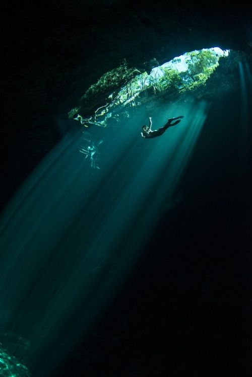 'The Pit', which is an amazing cenote sinkhole deep inside jungle in the Yucatan Peninsula in Mexico. by Danny Kessler