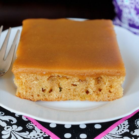 I am not kidding. This is seriously The Best Peanut Butter Sheet Cake - it melts in your mouth! No one will ever know it has a secret ingredient - zucchini!