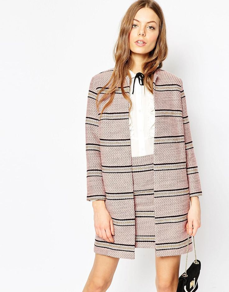 Image 1 ofASOS Premium Boucle Stripe Jacket Co-ord