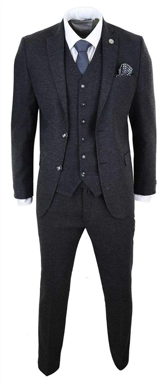 Truclothing Com Herrenanzug 3 Teilig Wollenanteil Tweed Design
