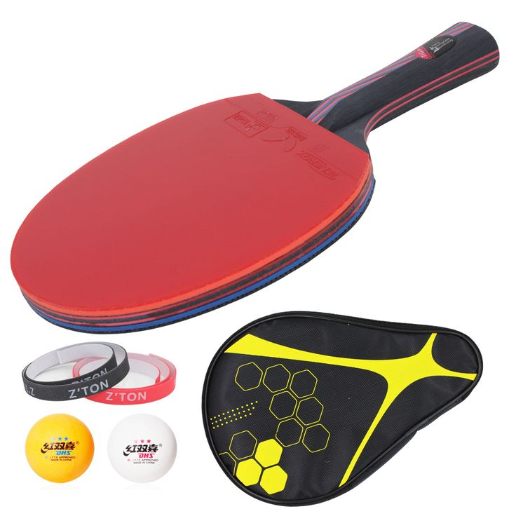 Hybrid Wood 9.8 Brand Quality Table tennis racket Ddouble Pimples-in rubber Ping Pong Racket tenis de mesa table tennis
