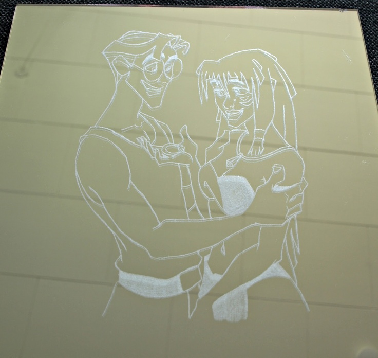 Engraving on mirrors