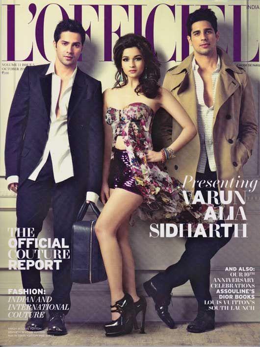 Alia Bhatt with Siddharth Malhotra and Varun Dhawan