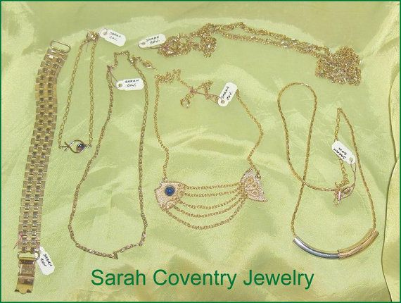 Vintage Sarah Coventry  Jewelry Group  of Chains by EttasEmporium