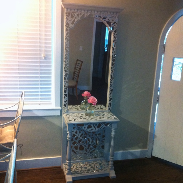 Broken Mirror Mosaic End Tables Dresser Anything Home Decor In 2018 Pinterest And
