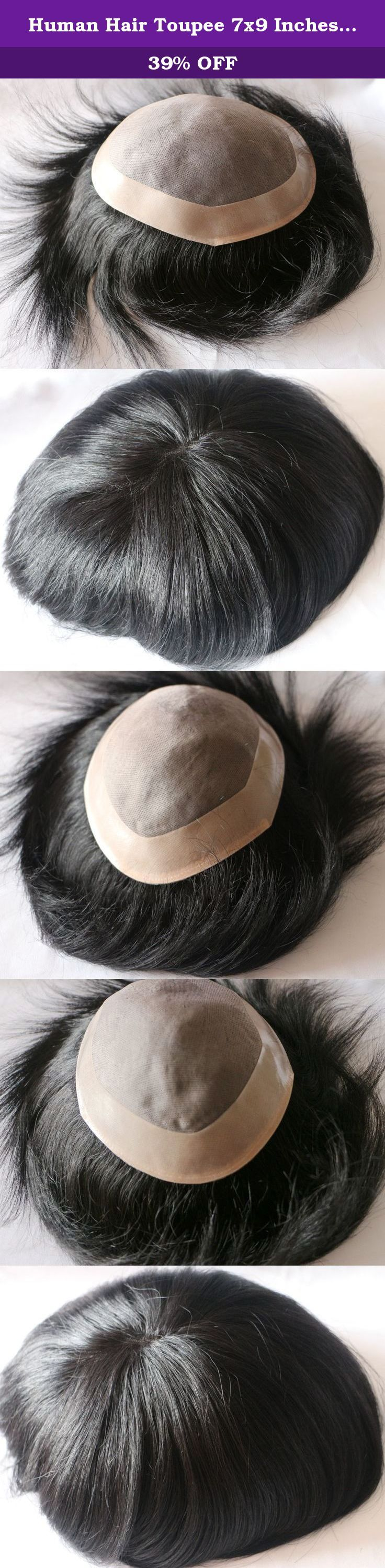 Human Hair Toupee 7x9 Inches Mono Base Men Hair Piece (color 1). 1. Color is as picture 1 2. base style is as picture 2 3. base size:7x9 4.standard shipping takes about 7 to 10 business days, expectied shipping takes about 3 to 4 business days.