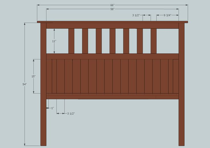 Queen Size Headboard Plans Size Slatted Headboard