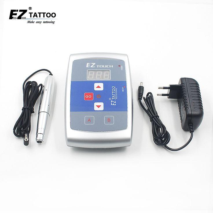 EZ Permanent Tattoo Machine Kits Digital Permanent Makeup Eyebrow&Lip Pen LCD Power Supply Free Shipping #Affiliate