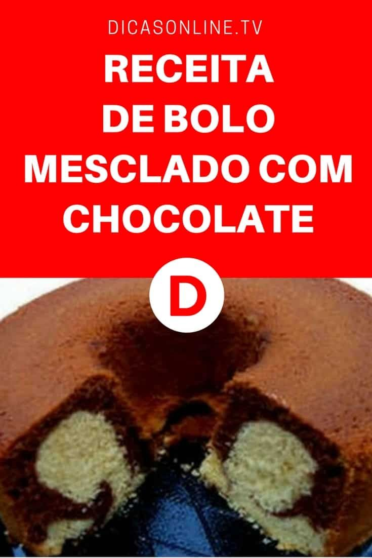 Bolo mesclado de chocolate | RECEITA DE BOLO MESCLADO COM CHOCOLATE