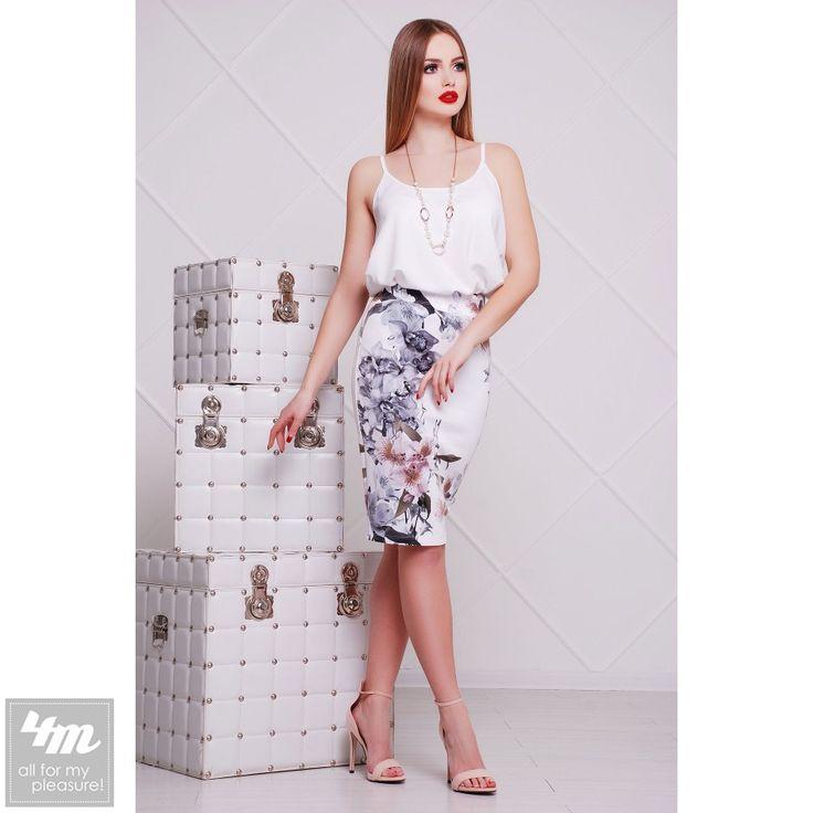 Юбка Glem «Мод. №14» (Принт Орхидеи Оригами) http://lnk.al/4mKZ  #лукдня #юбка #топ #новинки #стильжизни #одежда #наряд #одеждаУкраина #4m #4m.com.ua