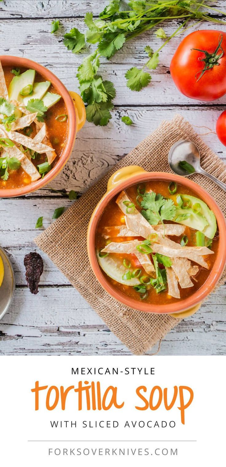 Many traditional Mexican dishes are easy to adapt to a fully plant-based diet. This tortilla soup is a great example. Whenever I cook it, the whole house fills with a delightful aroma, a hint of the robust and delicious flavor that is on the way.