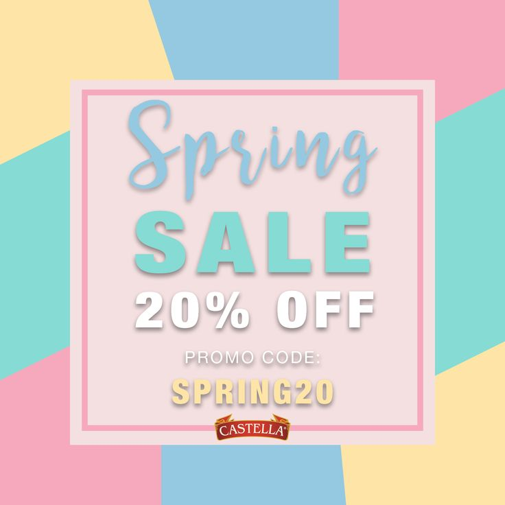 Happy first day of spring! Enjoy 20% Off in the Castella Marketplace using the code SPRING20 at checkout! Valid thru 03/27/18