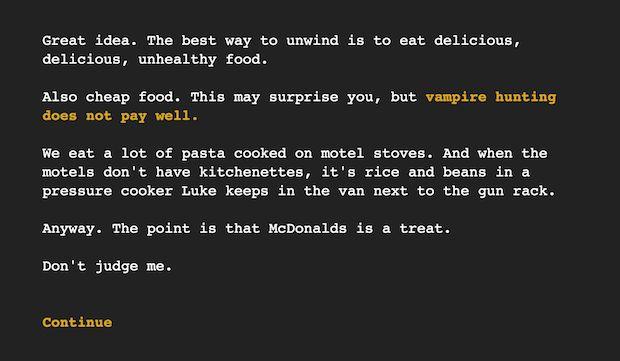 Screenshot from 16 Ways to Kill a Vampire at McDonalds