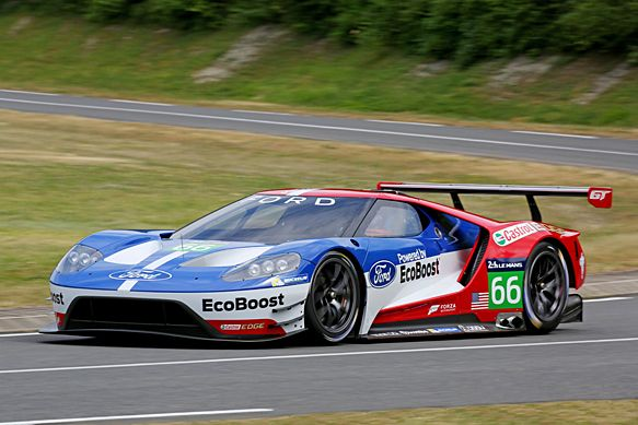 LM24: Ford will return to the Le Mans 24 Hours in 2016, with a new GT program officially confirmed at Le Mans on Friday. The manufacturer will compete in the French classic, and both the full World Endurance Championship and IMSA TUDOR United SportsCar Championship next year. Chip Ganassi Racing, which uses Ford engines in its TUDOR Championship prototypes, will run the program. RACER.com