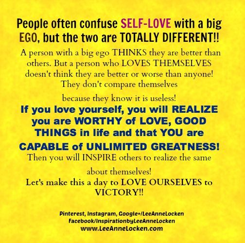 "#SelfLove   vs big #EGO  ~ Do you know the DIFFERENCE? #Inspire   #inspiration   #inspirational   #inspirationalquote   #quoteoftheday   #quotestoliveby   #motivationalmonday   #motivation   #motivationalquotes   #positivethinking   #positivethoughts @Inspirational Quotes  ✔ Like ✔ ""Share"" ✔ Tag ✔ Comment ✔ Repost ✔Follow"