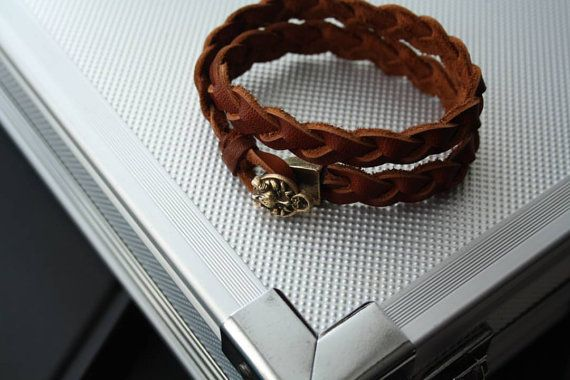 FREE SHIPPING, leather bracelet, braided leather, braided bracelet, lion head, mahes, Egypt, Deity, jewelry, accessories, bangle, wristband