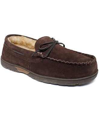 Rockport Men's Slippers, Faux Fur Lined Moccasins