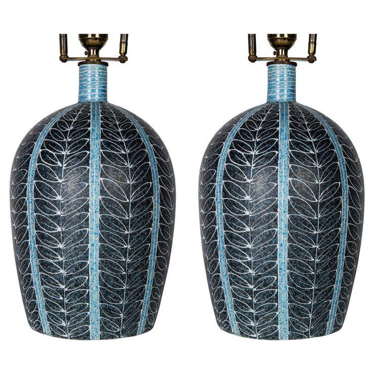 Pair of Scandinavian Table Lamps