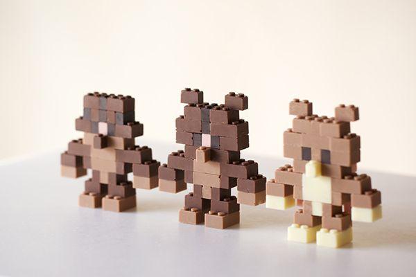 Legos de chocolate