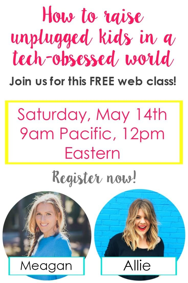 In this free web class, learn how you can raise unplugged, low-tech kids in our tech-obsessed world. Click through to view.