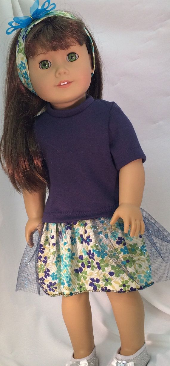 American Girl Doll Tulle Party Dress tulle by DollClothesByRoseAnn.  $17.00